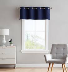 Drapery Valance Warm Home Designs Navy Blackout Curtains Valance Scarves Tie