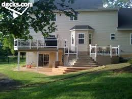 walkout basement design walkout basement design ideas multi level wooden deck with walkout