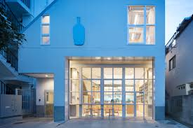 schemata architects completes blue bottle coffee nakameguro cafe