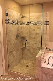 Replacing A Bathtub With A Shower Master Bathroom Reveal 80s To Awesome The Kim Six Fix