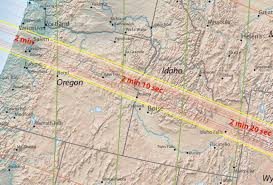 Map Of Bend Oregon by Four Maps The U201cgreat American Eclipse U201d Totality Path From Oregon