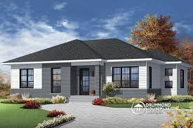 w3138 economical contemporary modern house plan with open floor