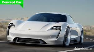 porsche front view porsche mission e concept aims tesla with 600 hp of power and 500