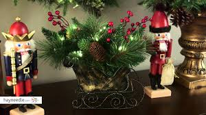 10 in long needle pine cone sleigh centerpiece product review