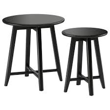 coffee table and end table sets 2 kragsta nest of tables set of 2 black ikea