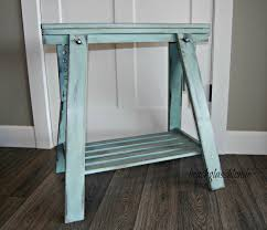 Tables Made From Doors by Door Sawhorse Table U0026 I Could See This As A Sofa Table Or As A