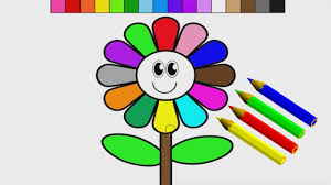 sunflower coloring pages how to color a coloful flower learning