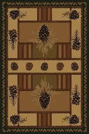 Pine Cone Area Rugs United Weavers Area Rugs Contours Lodge Rugs 512 26826 Pine