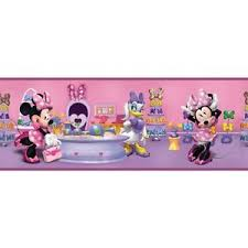 disney minnie mouse boutique on sure strip wallpaper border