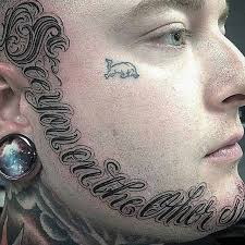 lettering tattoo around the face best tattoo ideas gallery