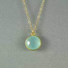 beautiful stone necklace images Aqua blue chalcedony necklace gold vermeil bezel 14k gold fill jpg