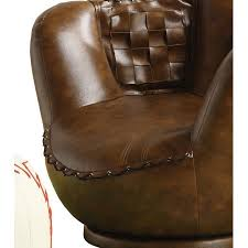 baseball chair and ottoman set crown mark baseball glove kids faux leather chair and ottoman