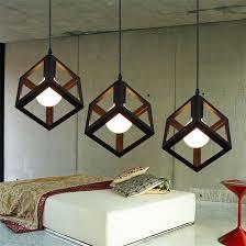 Retro Pendant Light Shades Vintage Retro Pendant Lights Led Pendant L Metal Cube Cage