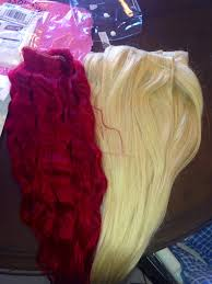 Red Blonde Hair Extensions by How To Dye Extensions Bright Red Flabs Of Steel