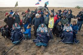 soyuz ms 01 lands with russian us and japanese crew from space
