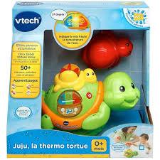 si e de bain vtech juju la thermo tortue jouet de bain vtech pas cher à prix auchan