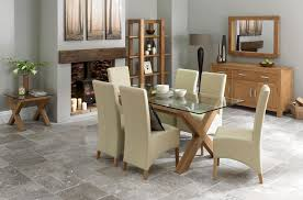 6 Seater Dining Table Design With Glass Top Lyon 6 8 Double End Extending Table