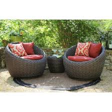 Wicker Patio Furniture Sets Cheap Corona 3 Wicker Conversation Patio Furniture Set Target With