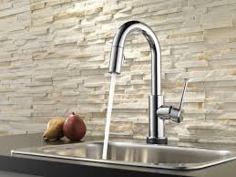 Sensate Touchless Kitchen Faucet by Delta Trinsic Kitchen Touchless Single Handle Pull Down Bar