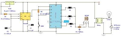 adjustable timer circuit diagram with relay output circuit diagram
