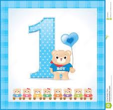 Birthday Invitation Card For Baby Boy Baby Birthday Card Lilbibby Com