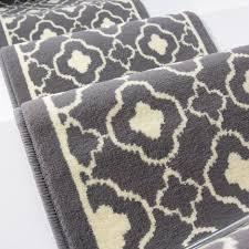 50cm width contemporary grey trellis stair carpet kukoon