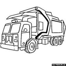 print coloring image garbage truck dump trucks birthdays