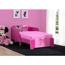 Minnie Mouse Bedroom Set Toddler Disney Minnie Mouse Wood Toddler Bed Walmart Com