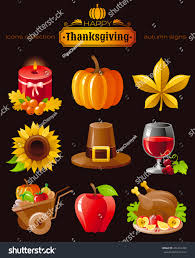 vector icon set autumn thanksgiving food stock vector 456214789