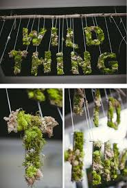 moss covered letters where the things are inspired party deco moss covered