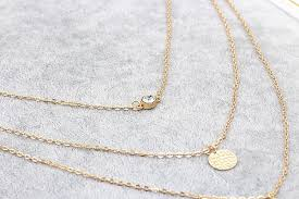 multi layer necklace images Sequin metal rod crystal multilayer necklace gold plated chain at jpg