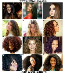 Hair Types by Hair Types Pattern Creative Alia