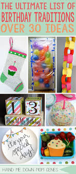 25 unique birthday traditions ideas on birthday