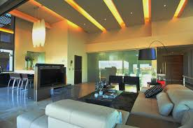 Bright Interior Nuance Interior Modern Lighting Living Room Led With Gold Shades Over