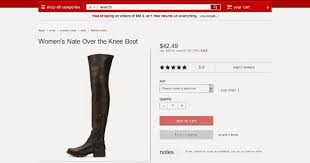 s boots target the leather look target gets into some the knee boot