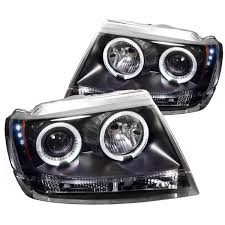 black jeep grand cherokee amazon com spyder auto jeep grand cherokee black halogen led