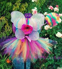 rainbow butterfly fairy pixie cut tutu dress set infant 5t