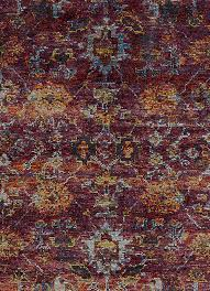purple maroon modern vintage style rug woodwaves