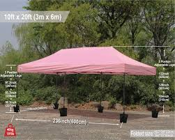 10 X 20 Shade Canopy by 10x20 Pop Up Canopy Instant Shelter Outdor Party Tent Gazebo