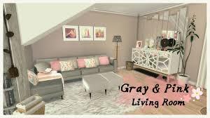 Grey Livingroom Sims 4 Gray U0026 Pink Living Room Room Mods For Download Youtube