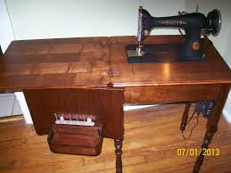 Antique Singer Sewing Machine And Cabinet Seam Ripper Joe And His Sewing Machine D I Y Flatbed Sewing
