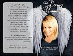 Memorial Program Template Angel Single Fold Memorial Program Funeral Pamphlets