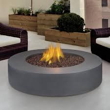 42 Inch Round Patio Table by Real Flame Mezzo 42 Inch Round Propane Gas Fire Pit Table Flint