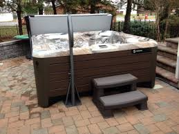 spring spa with cover cradle lifter system the pavers with