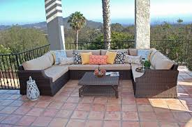 u shaped patio furniture stupendous rattan outdoor sectional sofa
