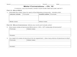 molar conversion worksheet phoenixpayday com