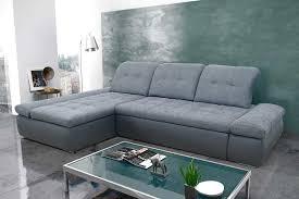 sofa schlaffunktion bettkasten ecksofa korpus kunstleder dunkelgrau sitz rücken webstoff grau