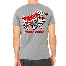 pioneer chicken pioneer chicken men s grey t shirt merch method inc