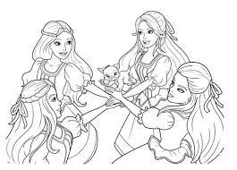 barbie musketeers coloring pages download
