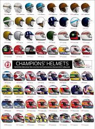 helmet design game illustration f1 chions helmets 1950 2014